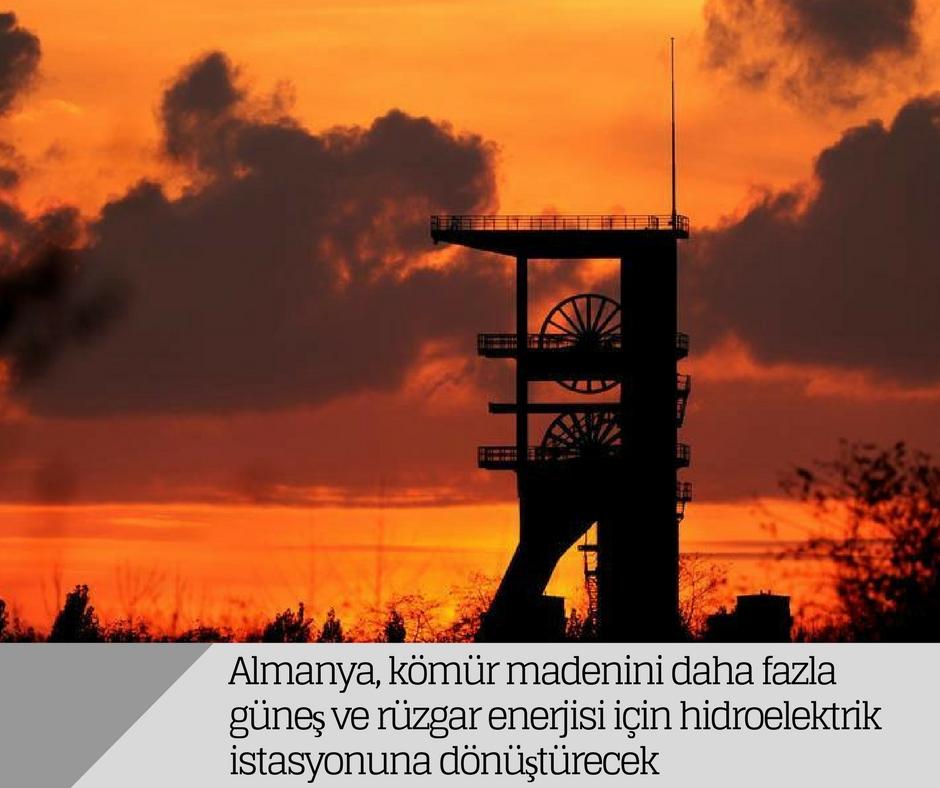 Almanya, kömür madenini daha fazla güneş ve rüzgar enerjisi için hidroelektrik istasyonuna dönüştürecek
