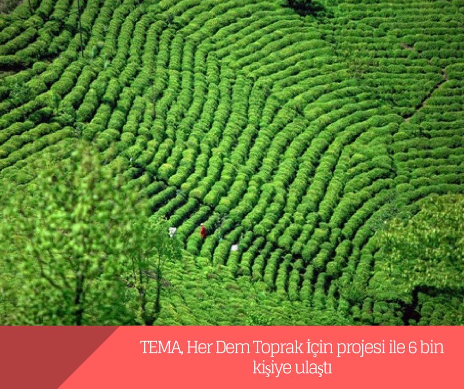 TEMA, Her Dem Toprak İçin projesi ile 6 bin kişiye ulaştı