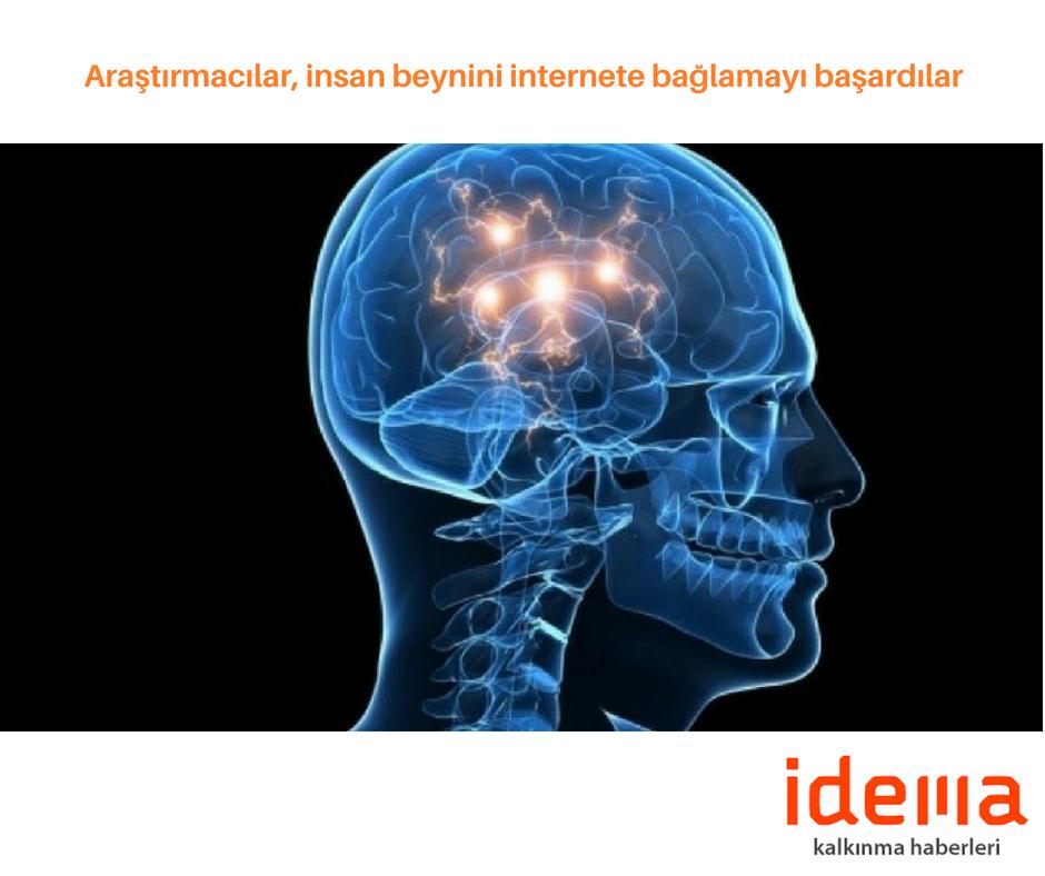 Araştırmacılar, insan beynini internete bağlamayı başardılar