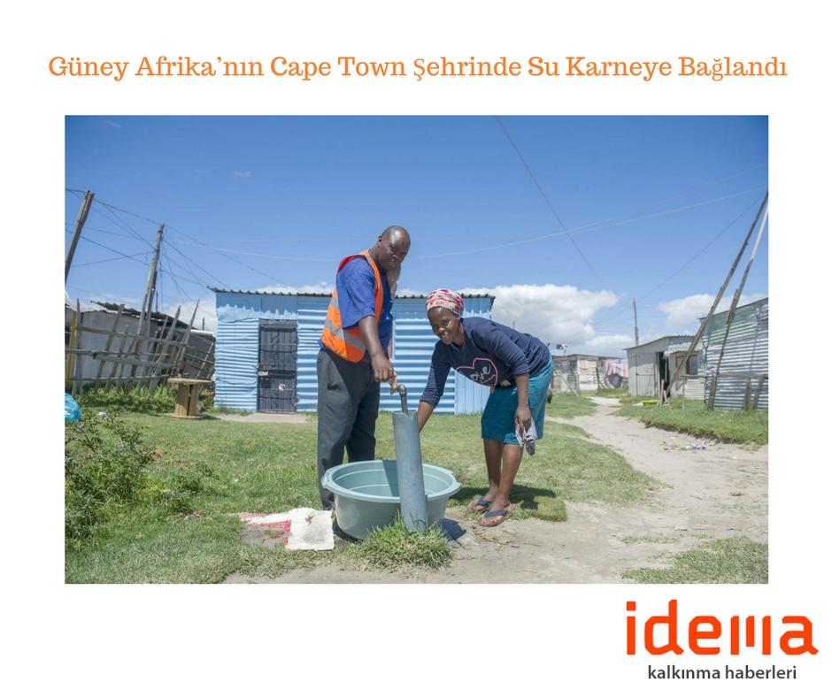 Güney Afrika'nın Cape Town Şehrinde Su Karneye Bağlandı