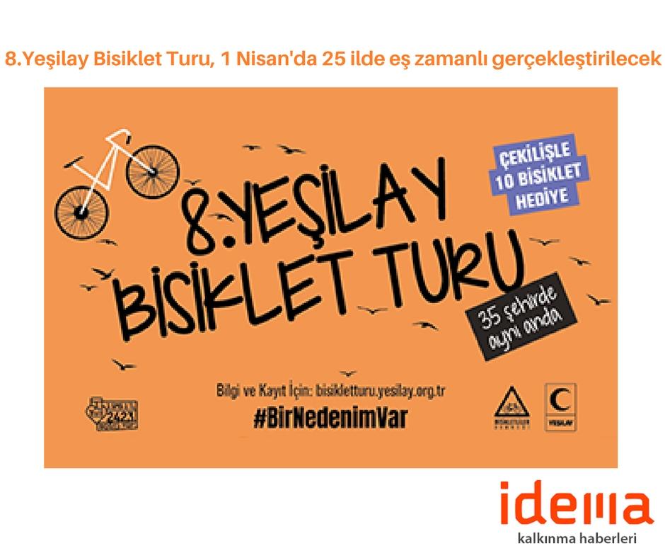 8.Yeşilay Bisiklet Turu, 1 Nisan'da 25 ilde eş zamanlı gerçekleştirilecek
