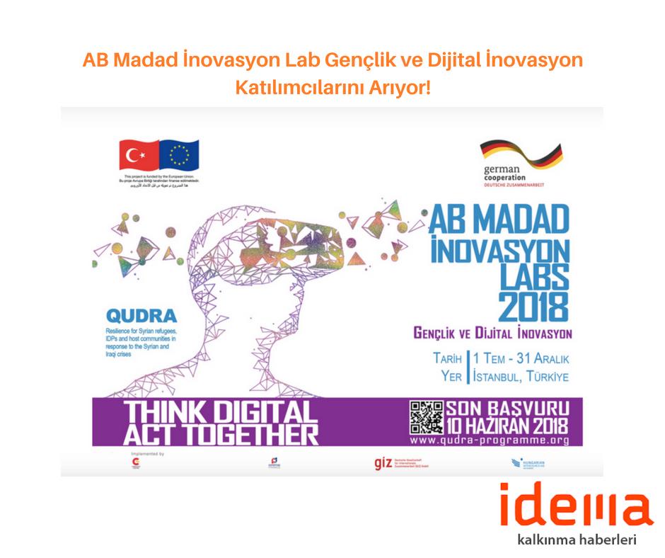 AB Madad İnovasyon Lab Gençlik ve Dijital İnovasyon Katılımcılarını Arıyor!