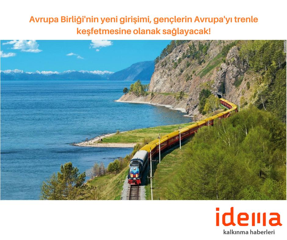 Avrupa Birliği'nin yeni girişimi, gençlerin Avrupa'yı trenle keşfetmesine olanak sağlayacak!
