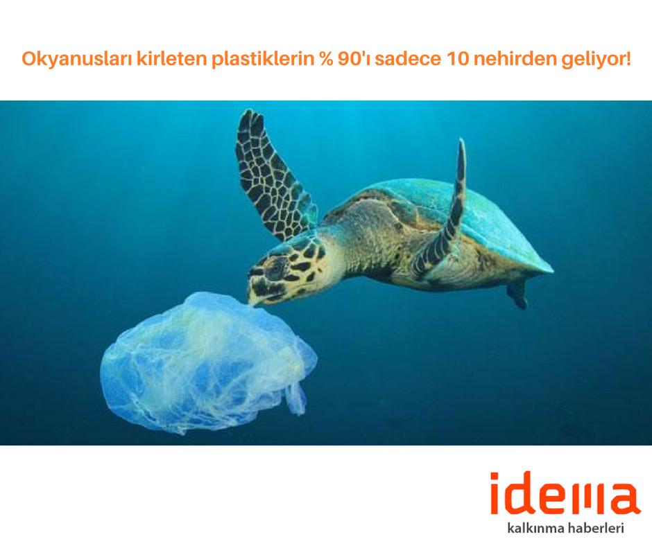 Okyanusları kirleten plastiklerin % 90'ı sadece 10 nehirden geliyor!