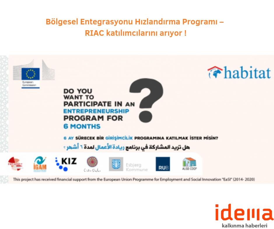 Bölgesel Entegrasyonu Hızlandırma Programı – RIAC katılımcılarını arıyor !