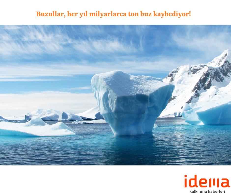 Buzullar, her yıl milyarlarca ton buz kaybediyor!