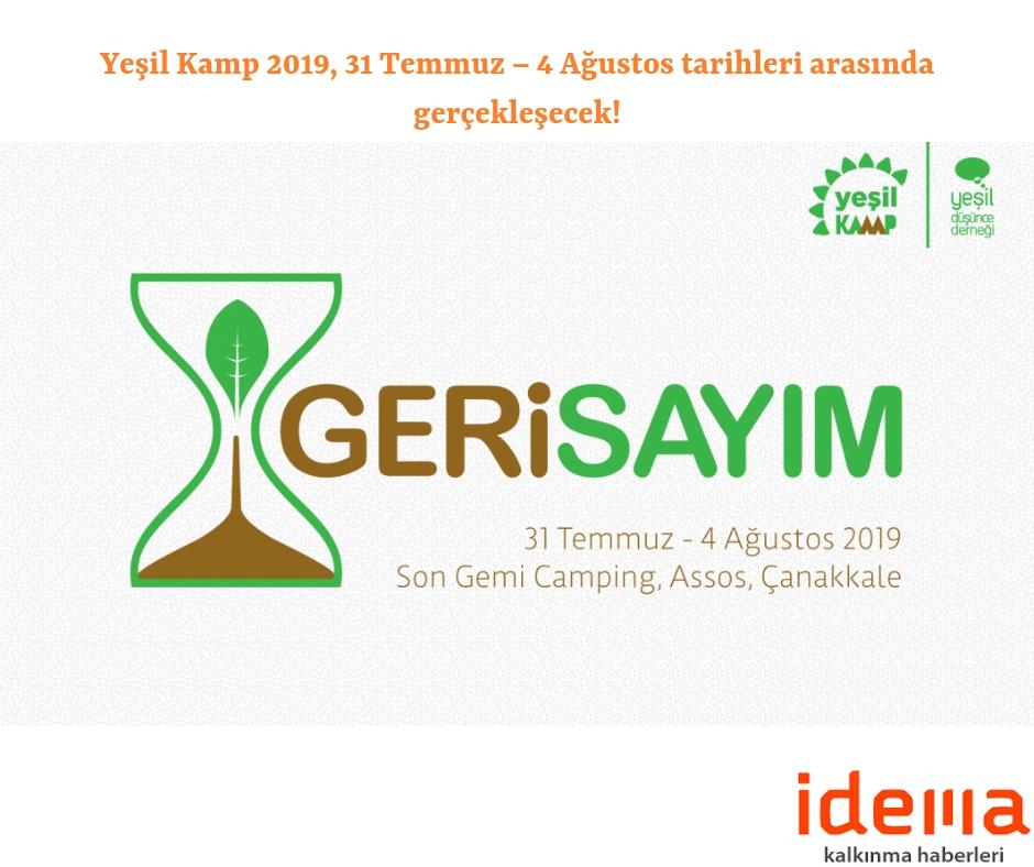 Yeşil Kamp 2019, 31 Temmuz – 4 Ağustos tarihleri arasında gerçekleşecek!