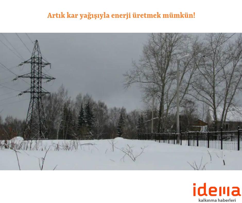 Artık kar yağışıyla enerji üretmek mümkün!