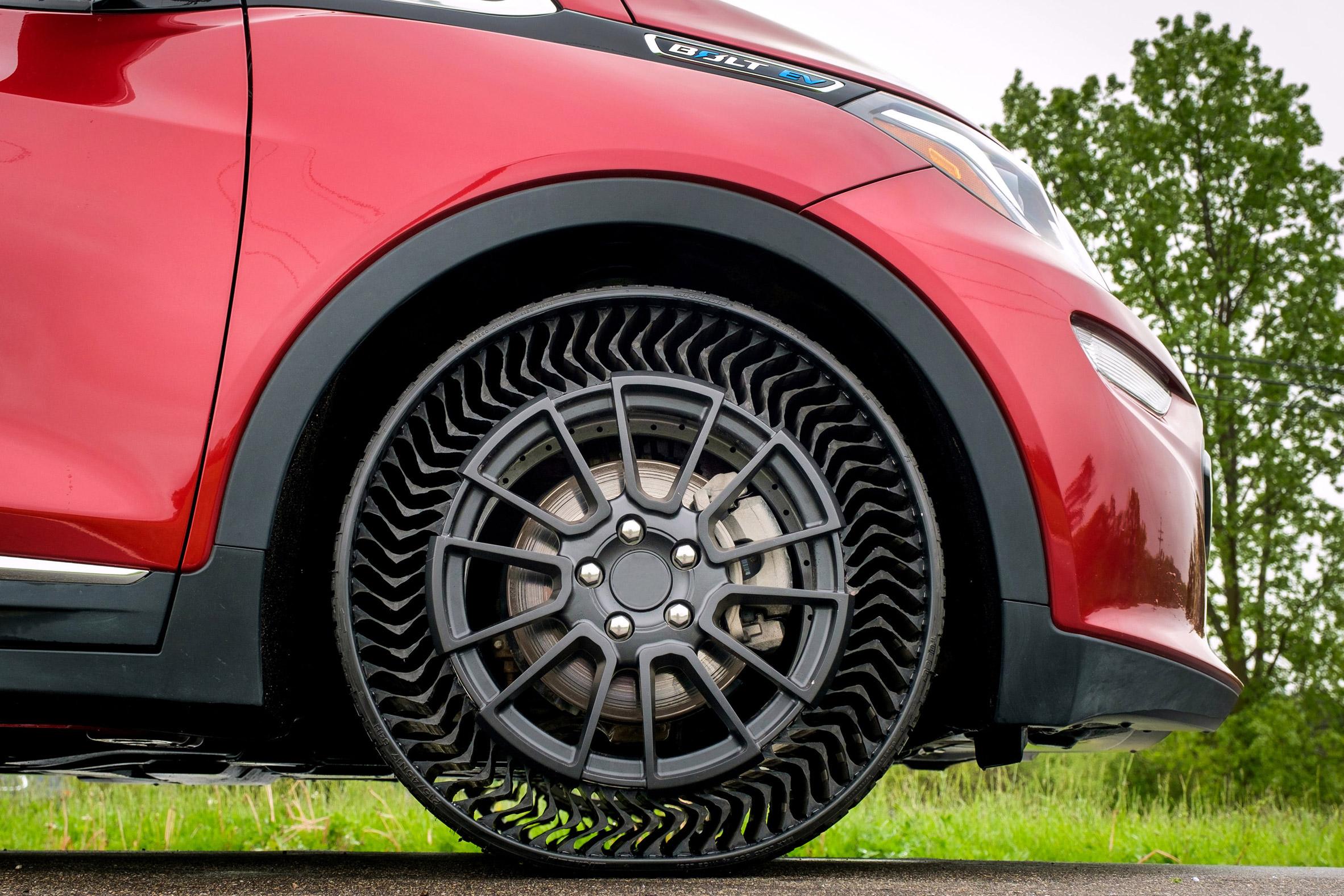 Michelin ve General Motor, havasız lastik tasarlıyor!