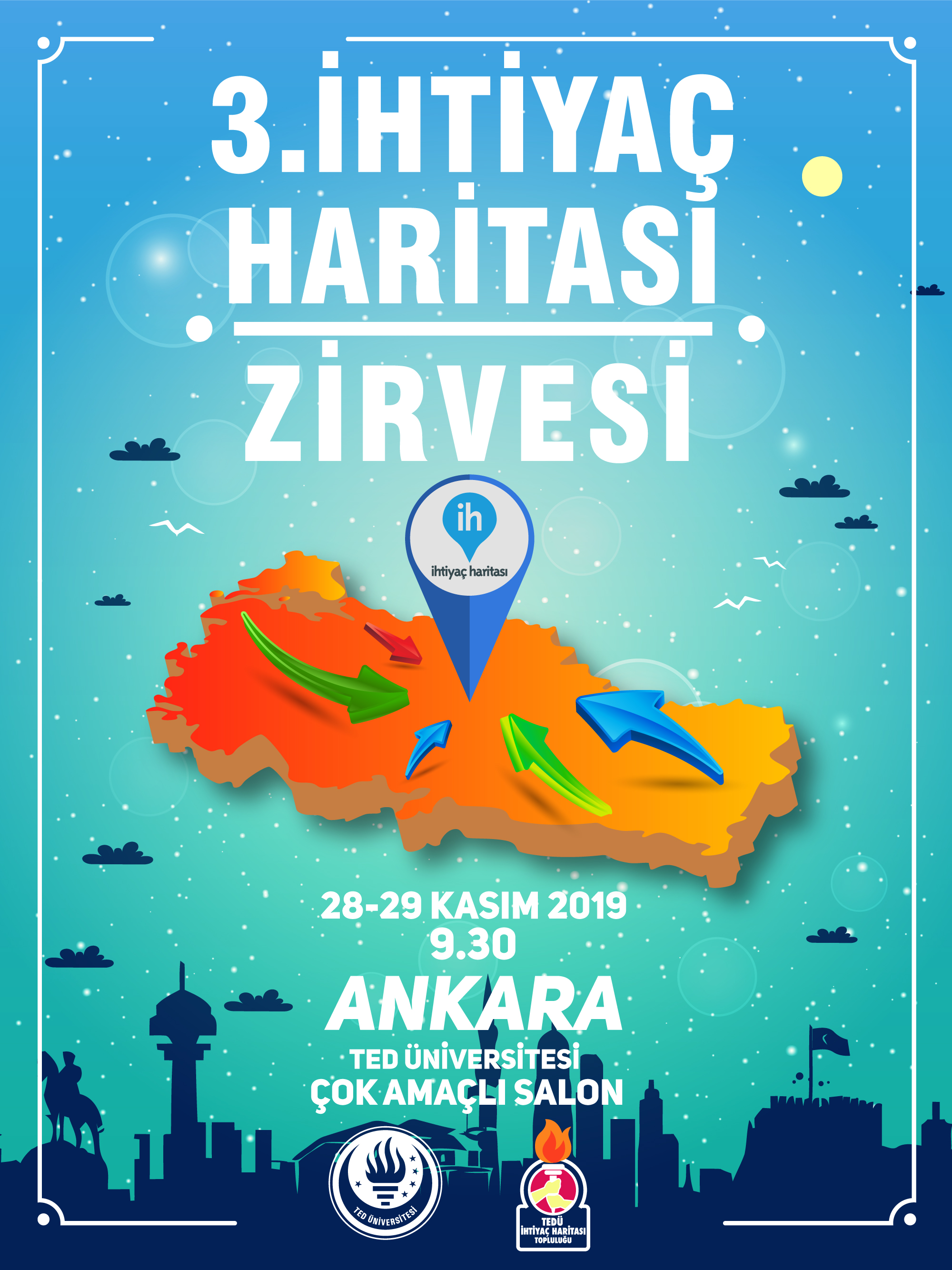 İhtiyaç Haritası Zirvesi, 28-29 Kasım tarihleri arasında Ankara'da gerçekleşecek!