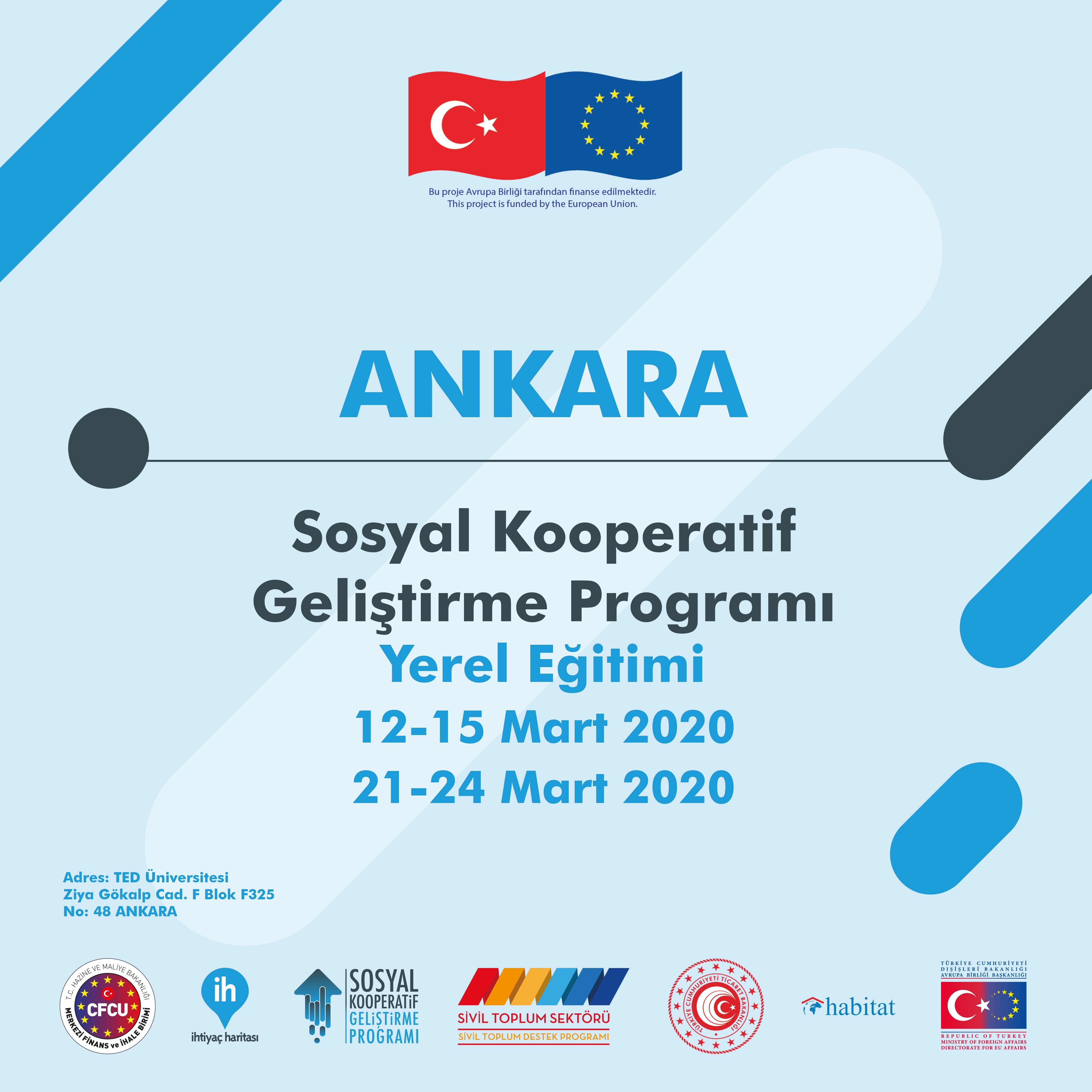 Sosyal Kooperatif Geliştirme Programı Ankara Eğitimi Başvuruları açıldı!