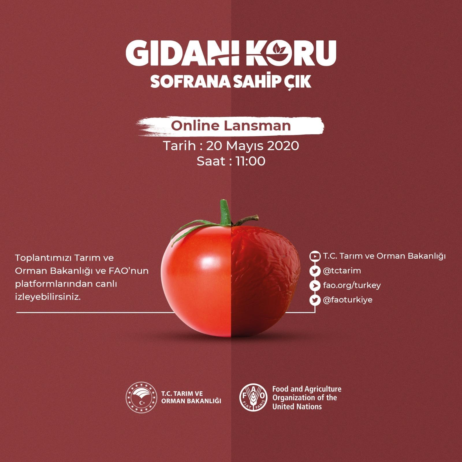 """""""Gıdanı Koru Kampanyası"""" Online Lansmanı 20 Mayıs'ta Gerçekleşecek"""