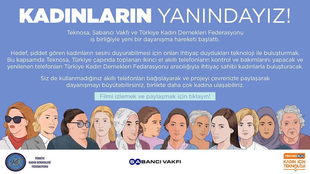 Sabancı Vakfı, Teknosa ve Türkiye Kadın Dernekleri Federasyonu'ndan Şiddet Gören Kadınlara Teknoloji Desteği